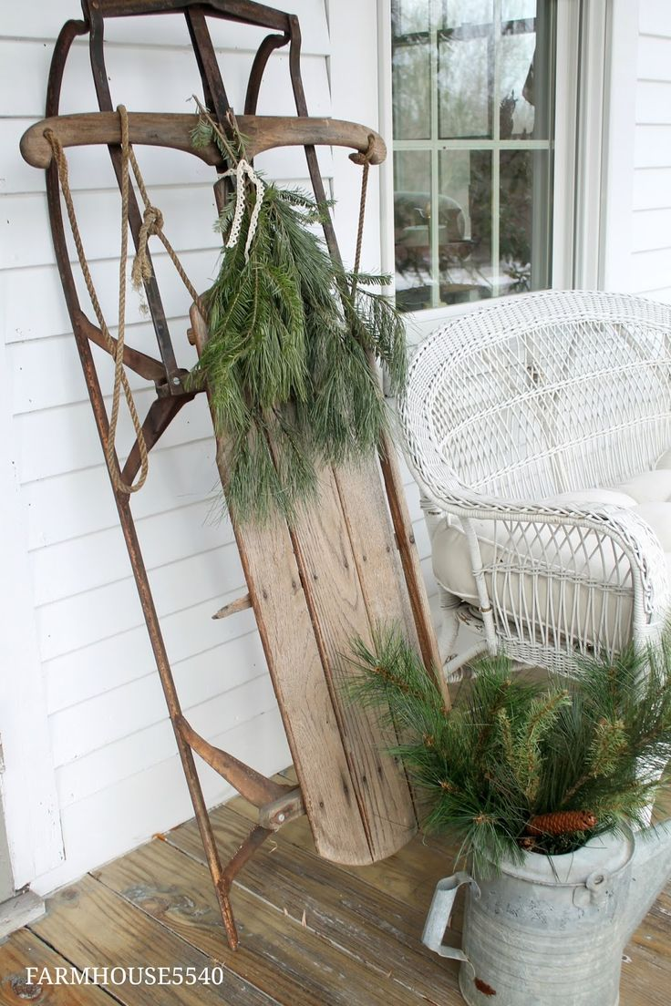 Here is our farmhouse all decorated for Christmas...come on in!!! I have greens tucked just abou...