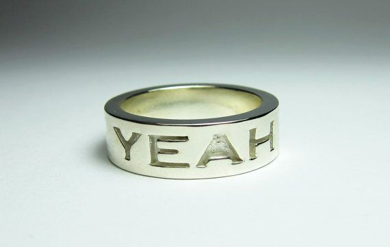 Sterling Silver 'Agree' Ring Agree Silver by FacetiousDesigns