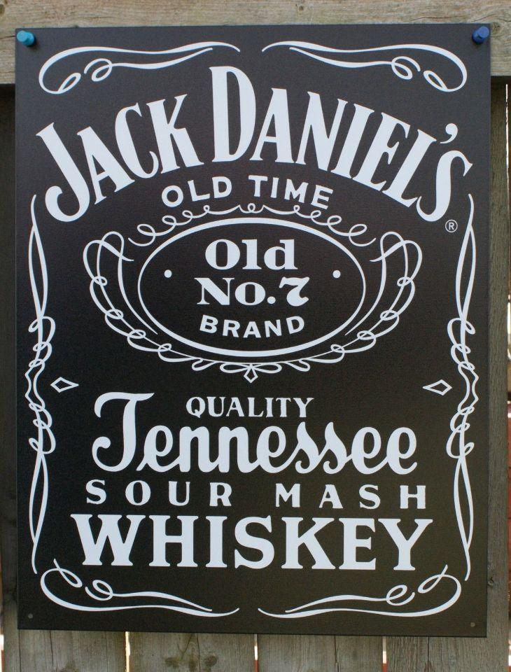 Pin Jack Daniels Black Label Tin metal Sign Garage Man Cave Bar Beer Alcohol Whiskey 15A