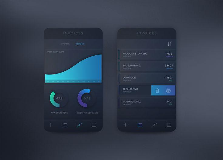Invoices+App+Concept+(PSD+Freebie)