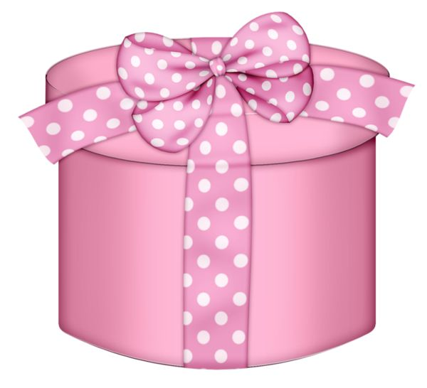 Pink Round Gift Box PNG Clipart