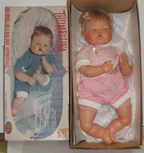 """VINTAGE 1961 IDEAL 19"""" IDEAL THUMBELINA - I played with this doll more than any other!"""