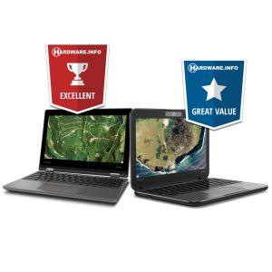 Onze Chromebooks ontvangen awards van Hardware.Info