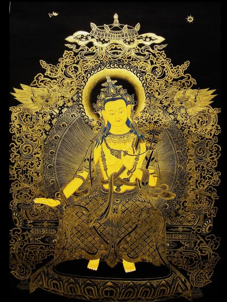 Buddha Maitreya ~ Maitreya is recognized in both Theravada and Mahayana Buddhism as the Buddha who will succeed Sakyamuni, currently residing in Tushita heaven.  In anticipation of his future Buddhahood, Maitreya may be depicted as already a Buddha.