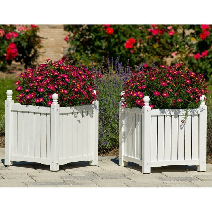 Have to have it. Square Solid Wood Lexington Planter