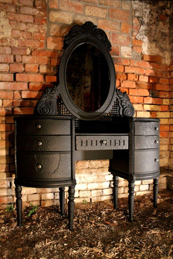 Antique makeup vanity table - Burnt Pier Glass Vintage Restaurant Design Industrial Shop