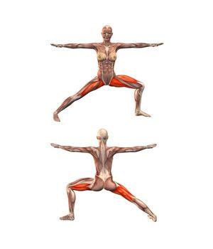 #VIRABHADRASANA Warrior pose, left leg bent | YOGA.com