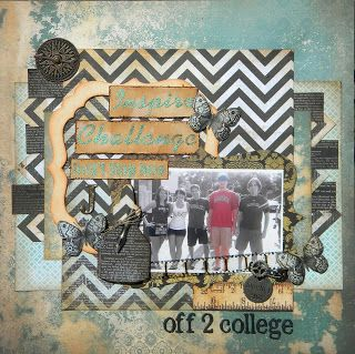 Back to school .... College.  Kaisercraft 75 cents paper collection