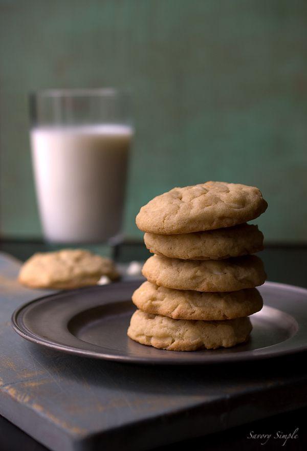 Irish cream white chocolate chip cookies ~ Savory Simple ~ www.savorysimple.net