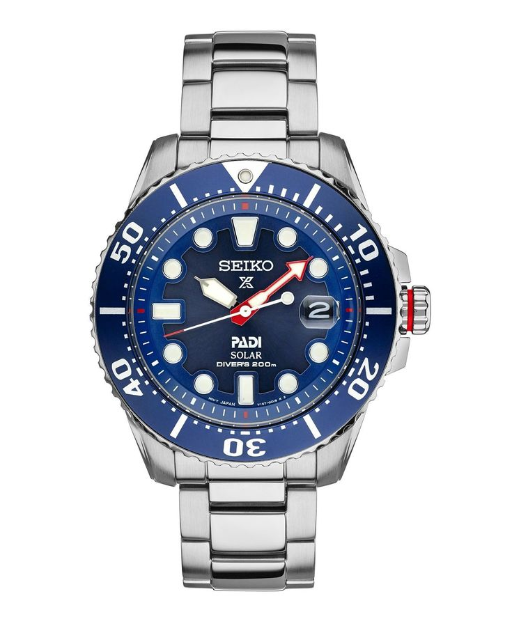 Seiko Solar Prospex Men's Dive Watch SNE435 PADI Dive Special Edition #menwatches