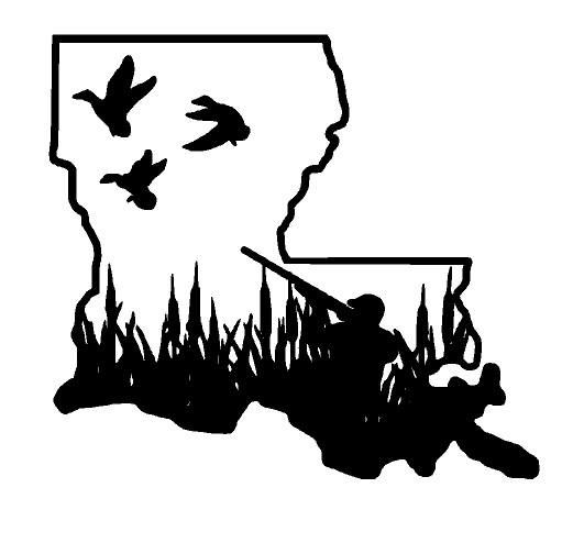 State Duck Hunting Truck Decal Only At Tiny Anchor