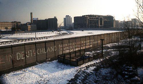 The Berlin Wall November 28, 1975 looking southeast