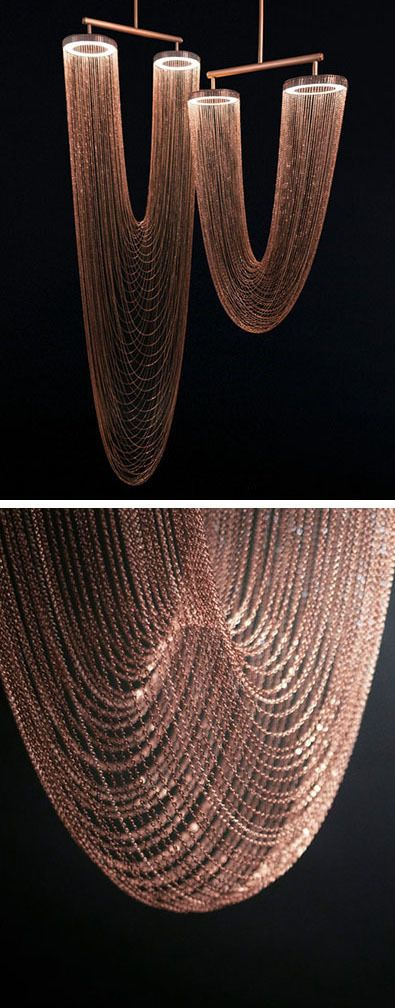 Larose Guyon's New Sculptural Lighting Is Like An Illuminated Necklace