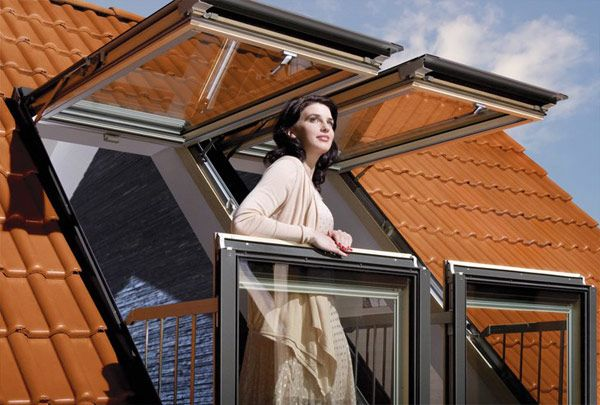 Innovative Windows by Fakro can Add Small Terraces to Attic Rooms
