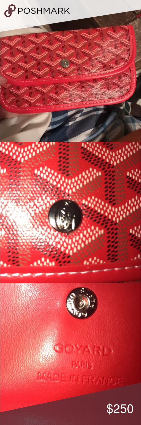Goyard wallet/clutch Brand new, I have the bag that come with it if anyone is interested. Lower price available thru ️️ Goyard Accessories