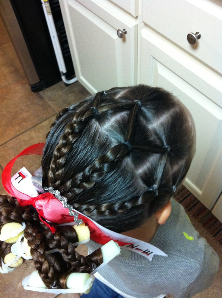 Gymnastics Meet Hair Little Girl Hairstyles Pinterest