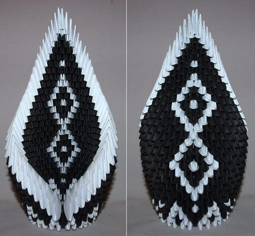 12 Best 3d Origami Driving Swan Assembly Images On Pinterest 3d