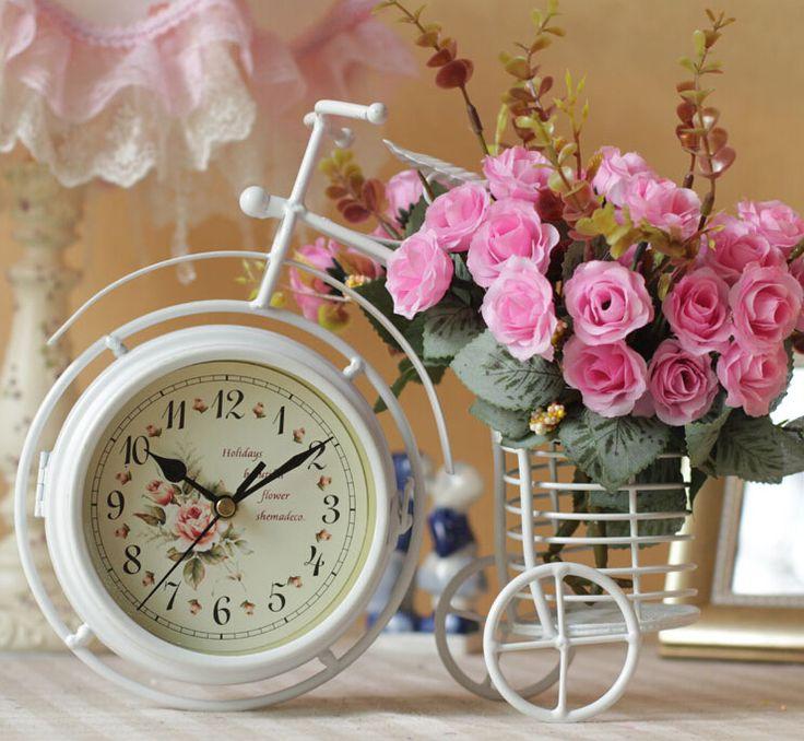 Прокат формы Настольные часы с вазы для цветов Железные ремесла домой decoraton свадебные украшения вазы цветочные горшки горшки сосудисто искусства