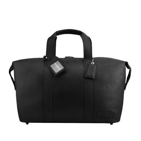 Manzoni Leather Overnighter Bag: Black | $279.00