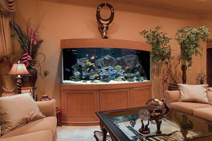 Brown Aquarium Decoration Ideas ~ http://www.lookmyhomes.com/creative-aquarium-decoration-ideas/