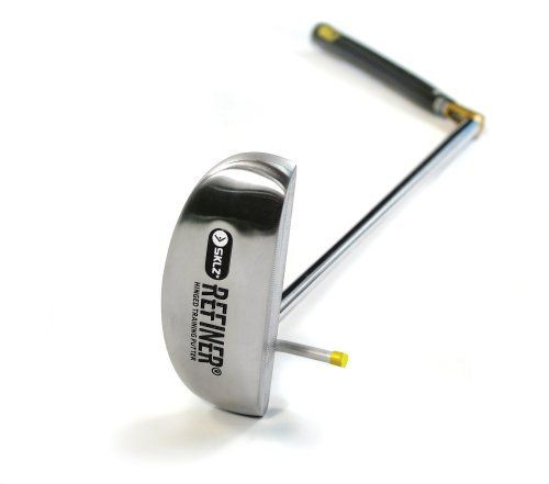 SKLZ Refiner Putter - Target Line Hinged Putter by SKLZ. Save 56 Off!. $34.99. Amazon.com                With the SKLZ Rick Smith Refiner Putter dual-adjustable hinged training club, you'll get instant feedback on tempo, timing, and clubhead path. Swing flaws are immediately exposed by a break in the hinge--when the hinge stays solid, it means your stroke is too. And it promotes better ball contact for straighter, longer shots.  Engineered to putt golf balls and teach a smooth, even-tempo…