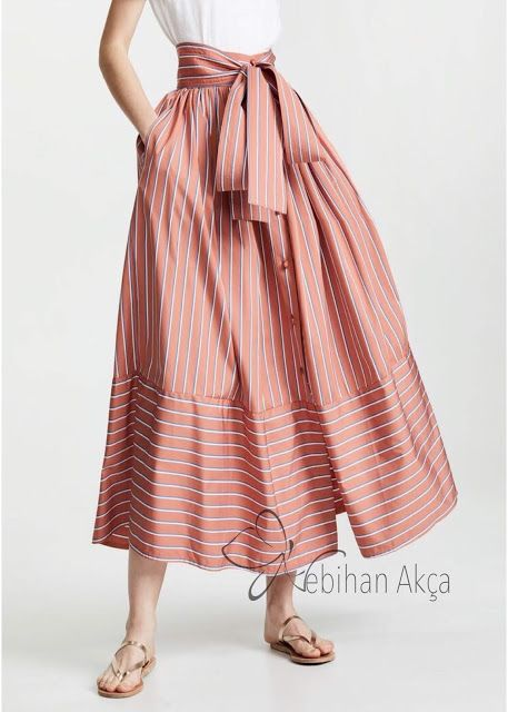 çizgili etekler, striped skirts, fashion skirts, burdastyle skirts