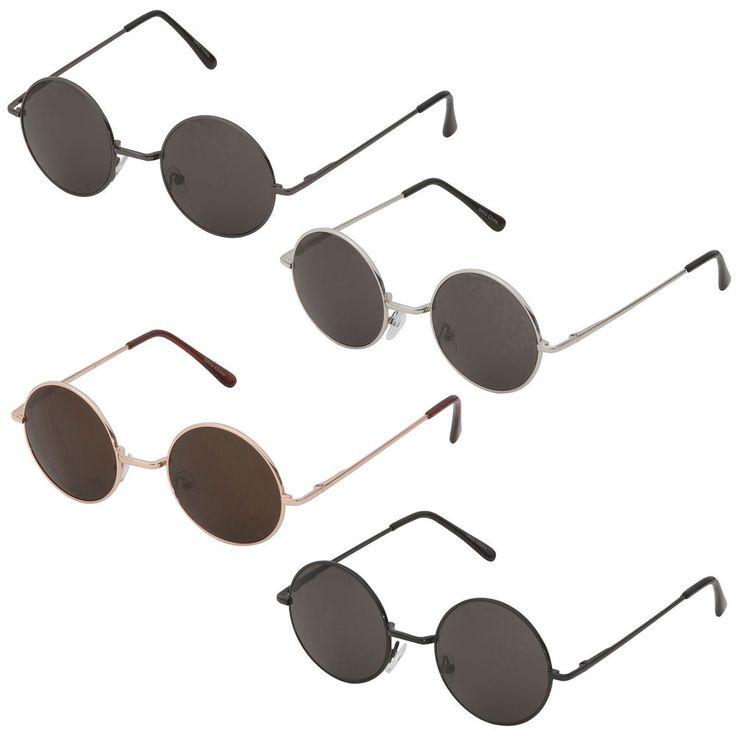 Round Hippie Retro John Lennon Sunglasses Shades Classic Teashade Circle Wire