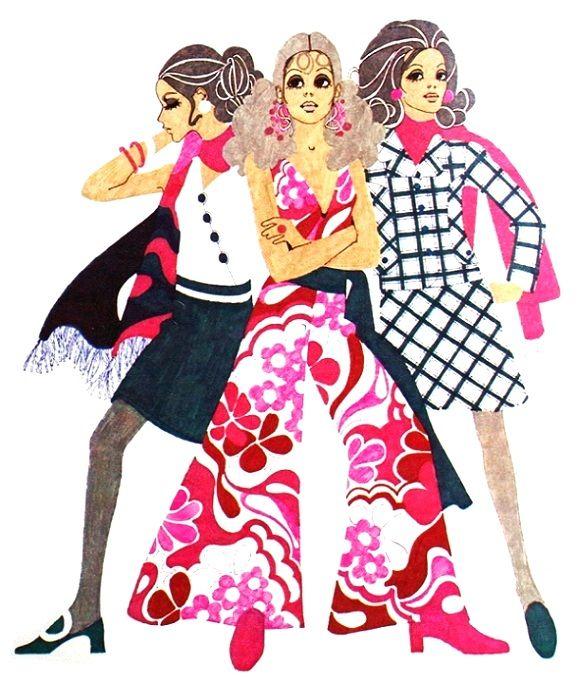 Sixties Fashion Illustration
