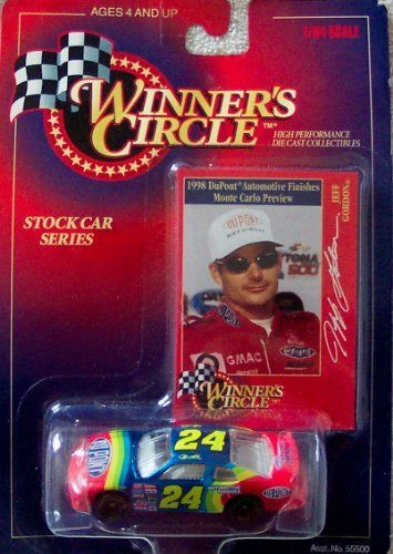 Winner's Circle Jeff Gordon #24 1998 DuPont Monte Carlo Preview 1:64 Scale Die Cast Stock Car Series by Hasbro Inc.. $14.99. Ages 4 and Up. Winner's Circle Jeff Gordon #24 1998 DuPont Monte Carlo Preview. High Performance Die Cast Collectibles. 1998 Hasbro, Inc.. Stock Car Series-Jeff Gordon. 1998 DuPont Monte Carlo.