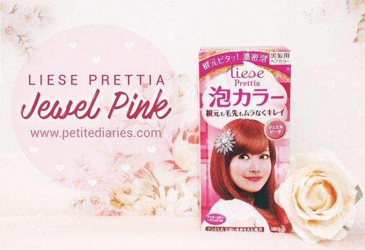 LIESE PRETTIA HAIR COLOR JEWEL PINK REVIEW : http://www.petitediaries.com/2016/12/review-liese-prettia-hair-bubble-color.html - #haircolor #diy #hairbubble #japanesehairdye #hairdye #kaoliese #japanesehair #liesehaircolor