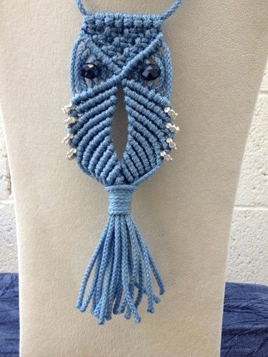 Macrame Owl Necklace (Pattern) So cute I could scream!