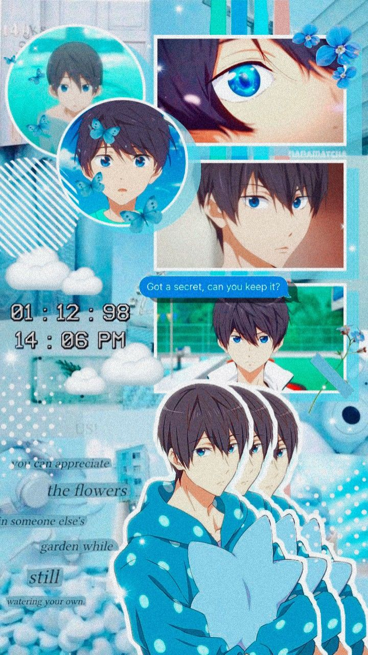 Haruka Nanase Aesthetic Wallpaper Di 2021 Foto Langit Malam Animasi Seni Anime Cute anime free wallpapers