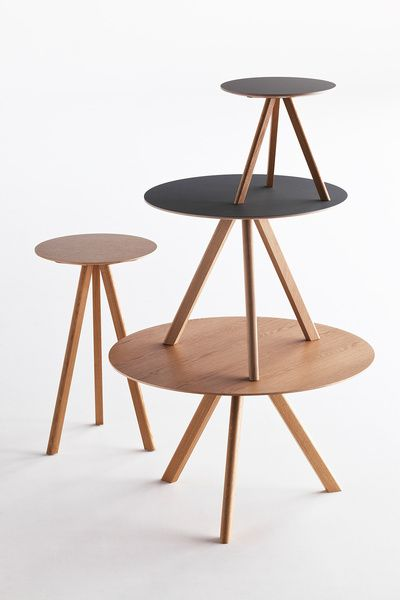 Copenhague Round High Table. 70x105. Lacq. Oak