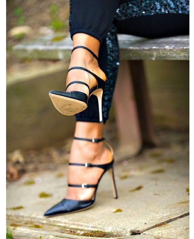 Sexy black high heel shoes www.ScarlettAvery.com