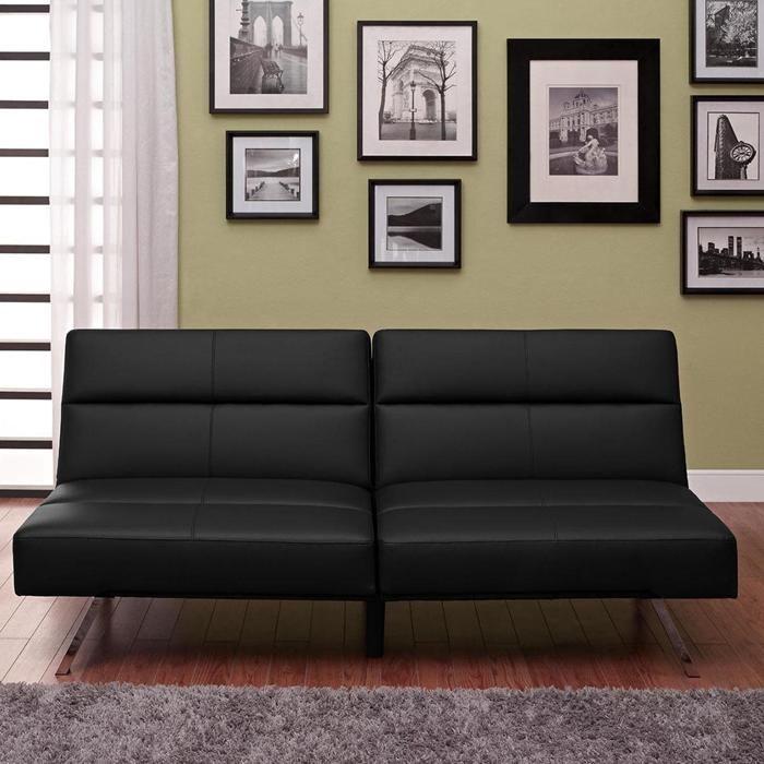 Nebraska Furniture Mart Mattress #37: Studio Convertible Futon In Black | Nebraska Furniture Mart