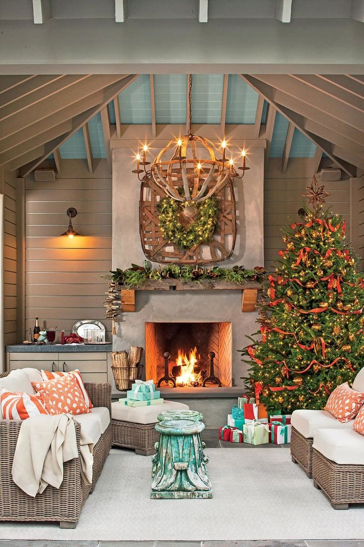 Fresh Christmas Decorating Ideas Set A Holiday Scene In Your Outdoor Room