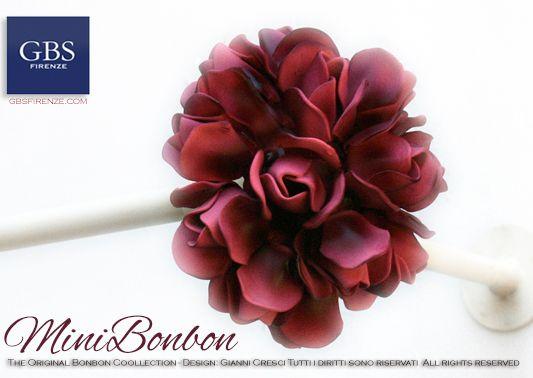 MiniBonbon. Asta da tenda con bouquet di rose. Design: Gianni Cresci.