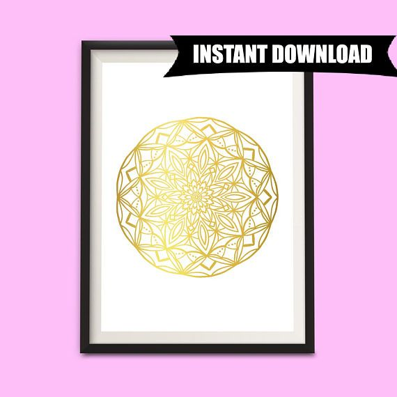 Geometric Modern Art Printable, Boho Wall Art, Boho Party Decorations, Boho Printable Art, Bohemian Wall Hanging, Mandala Home Decor (P4)