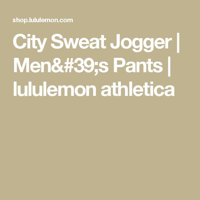 City Sweat Jogger | Men's Pants | lululemon athletica