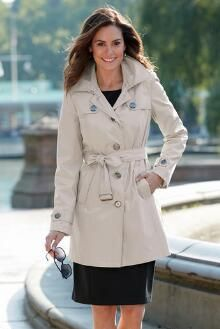 Water-Resistant Trench Coat by Tally Ho®