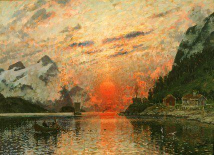 Un Fjord de Adelsteen Normann (1848-1918, Norway)