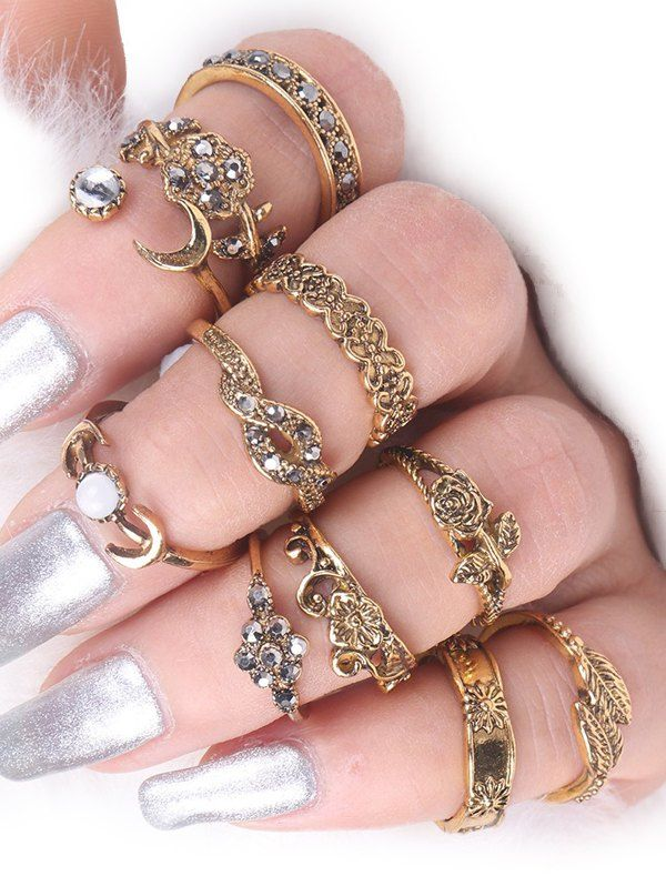 SHARE & Get it FREE | Moon Rose Flower Leaf Alloy Ring SetFor Fashion Lovers only:80,000+ Items • New Arrivals Daily • Affordable Casual to Chic for Every Occasion Join Sammydress: Get YOUR $50 NOW!