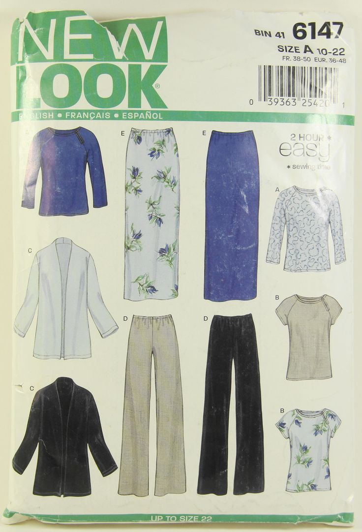 Shirt design new look - Simplicity New Look 6147 Misses Sewing Pattern Sizes 10 22 Shirt Pants Skirt Jacket Marked Easy 2 Hour Sewing Time Uncut Complete