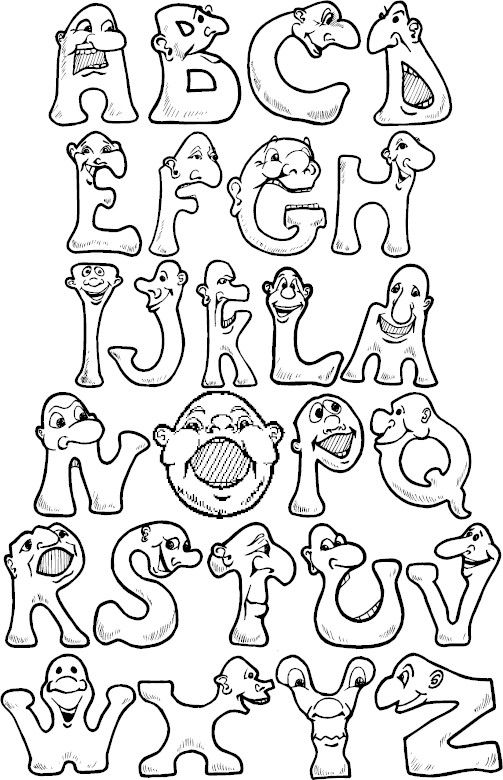 full alphabet colorpages coloring coloringpages
