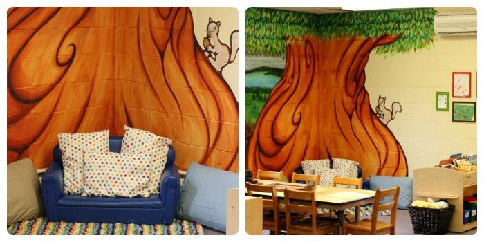 The comfy reading center in our preschool classroom - set-up and design inspiration