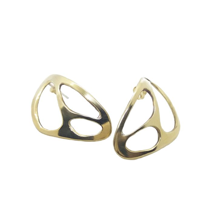 Beautiful brass modernist earrings. Lightweight and comfortable wear! 100% handmade and unique!