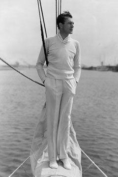 Gary Cooper in white