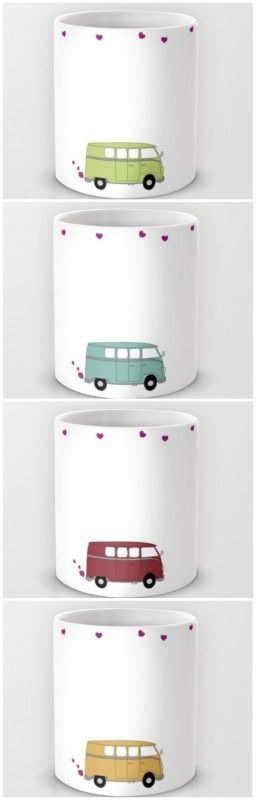 Love Bus Mug   Valentine Mug   Available in 11 and 15 ounce sizes, our premium ceramic coffee mugs feature wrap-around art and large handles for easy gripping. Dishwasher and microwave safe, these cool coffee mugs will be your new favorite way to consume hot or cold beverages   CreativeCainCabin.com