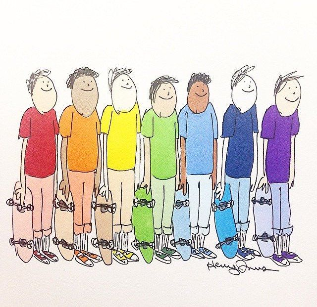 ROYGBIV 8 1/2 x 11 signed and numbered print by HenryJonesArt