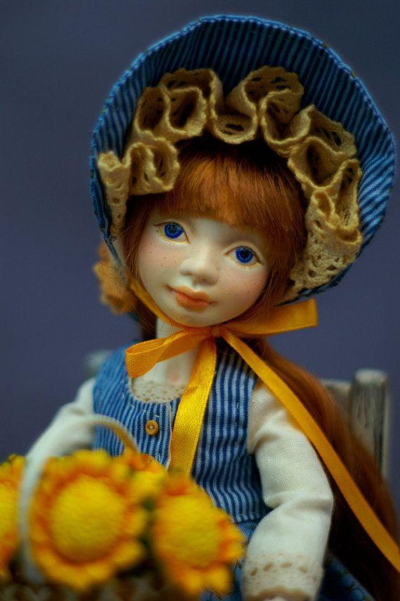 BJD Doll  Sunbonnet Sue by ElenaMakhovaDolls on Etsy